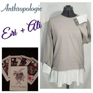 Anthropologie Eri + Ali Sweater Layered Top Sz S